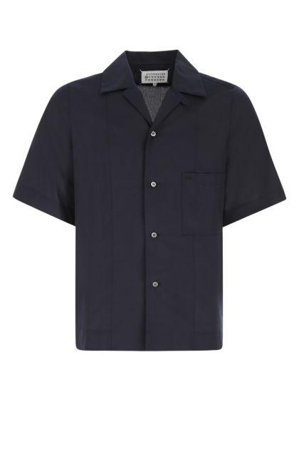 Navy blue viscose shirt