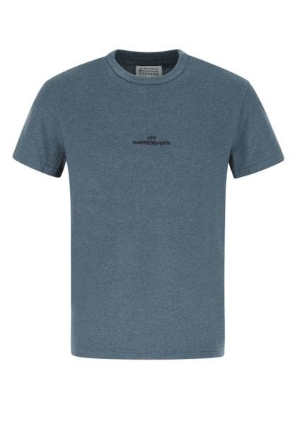 Petroleum blue cotton t-shirt
