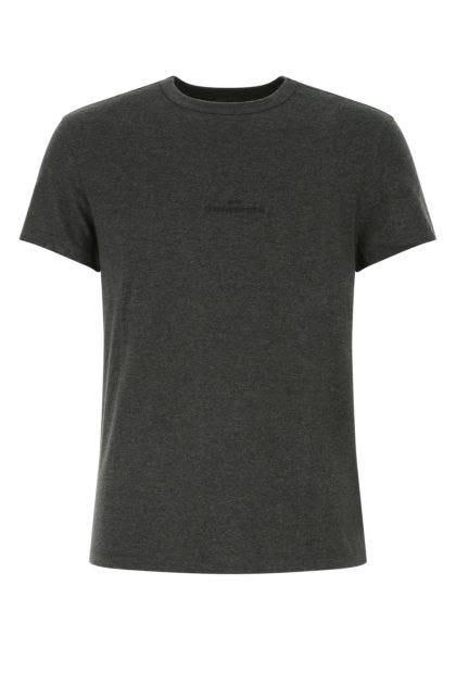 Melange charcoal cotton t-shirt
