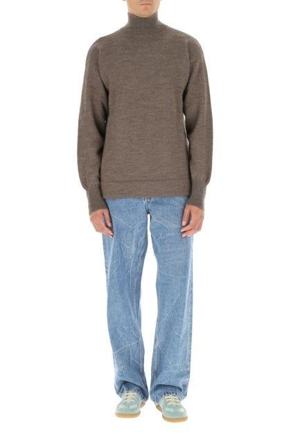 Melange brown wool sweater