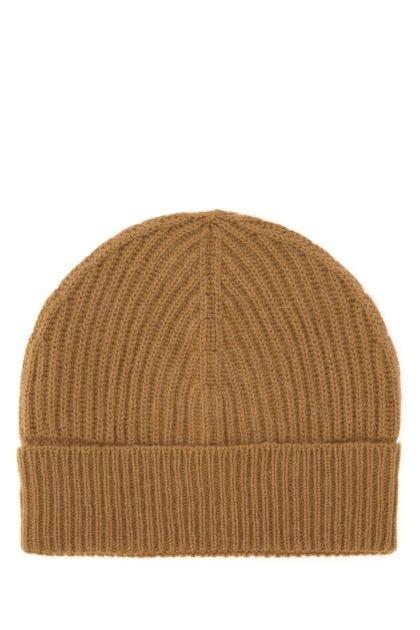 Biscuit wool blend beanie hat