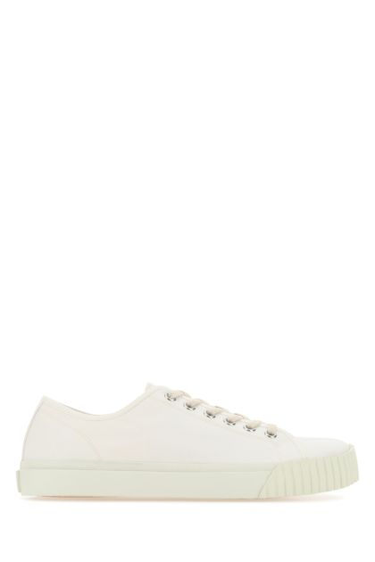 Ivory canvas Tabi sneakers