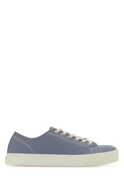 Air force blue fabric Tabi sneakers