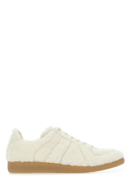 Ivory eco shearling Replica sneakers