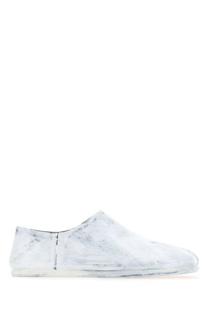White leather Tabi loafers