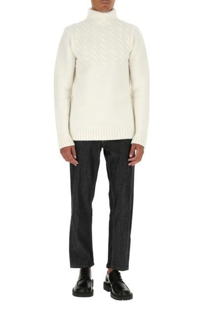 White wool sweater