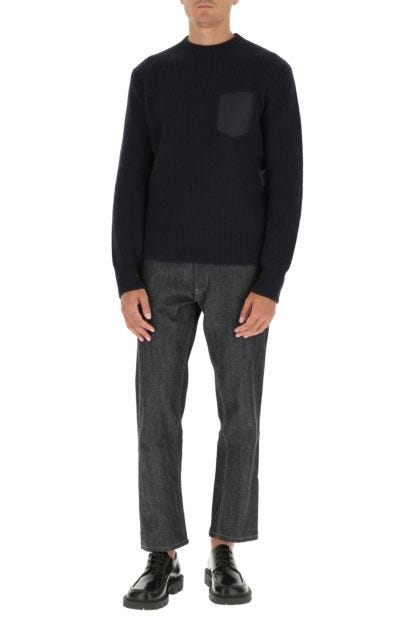 Dark blue alpaca blend sweater