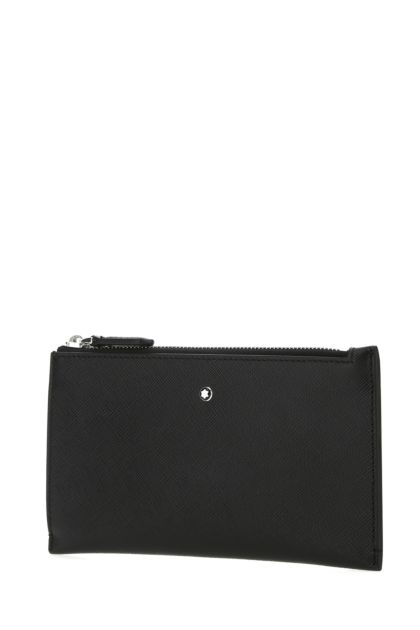 Black leather Sartorial pouch