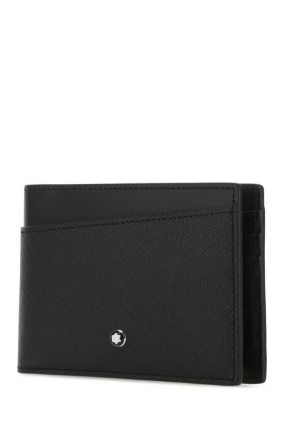 Black leather Sartorial wallet