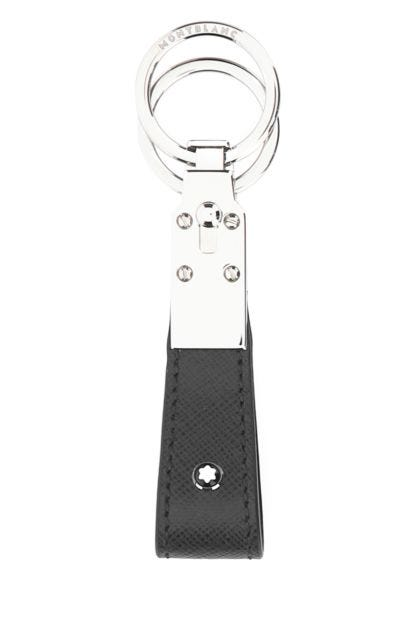 Graphite leather Sartorial key ring