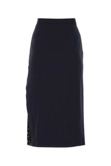 Navy blue triacetate blend Bastia skirt