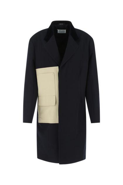 Midnight blue gabardine coat