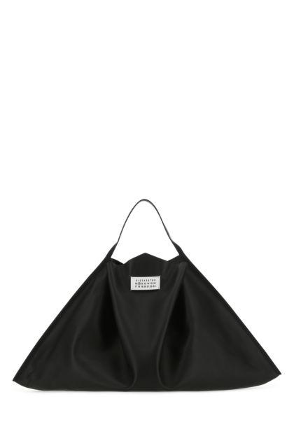 Black leather Mouchoir handbag