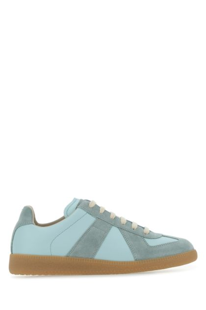 Two-tone leather and suede Replica sneakers