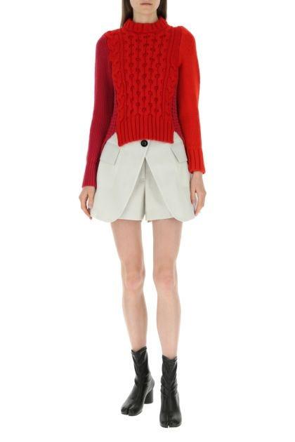 Chalk wool shorts