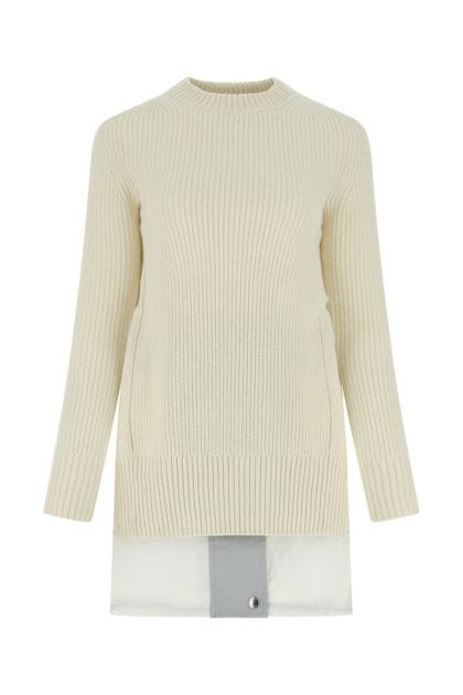 Multicolor wool and cotton blend sweater