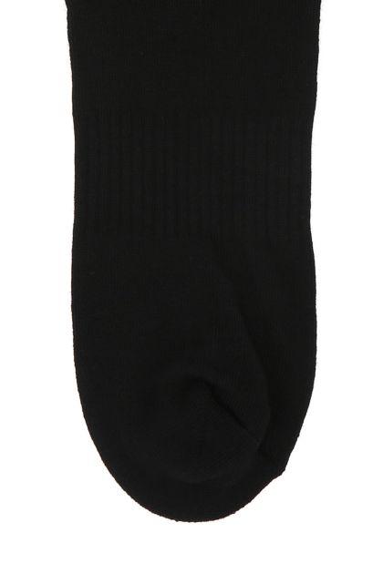 Black stretch cotton blend socks