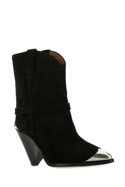 Black suede Limza boots