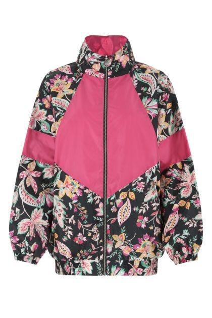 Printed nylon Daialou reversible jacket