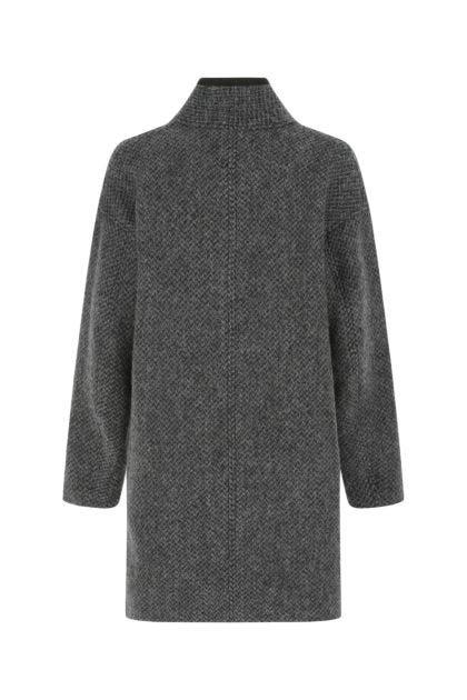 Melange charcoal wool Jelanyo coat