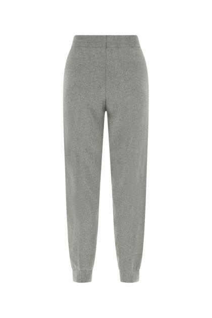 Melange grey cotton blend joggers