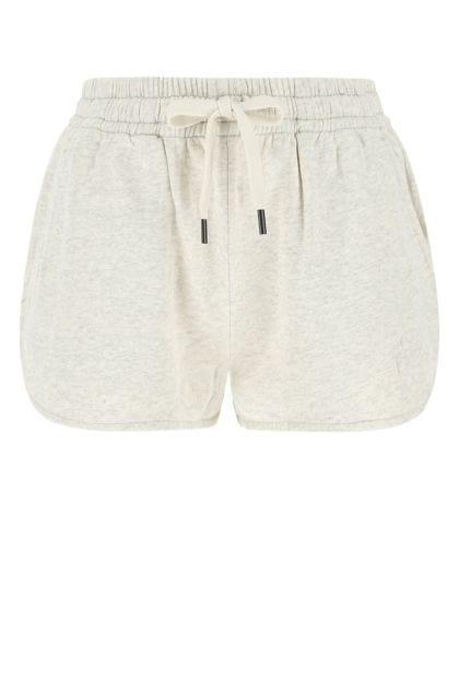 Melange ivory cotton blend Mifikia shorts