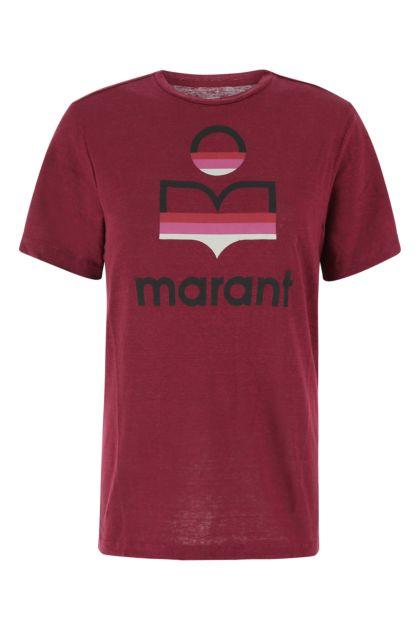 Tyrian purple linen t-shirt