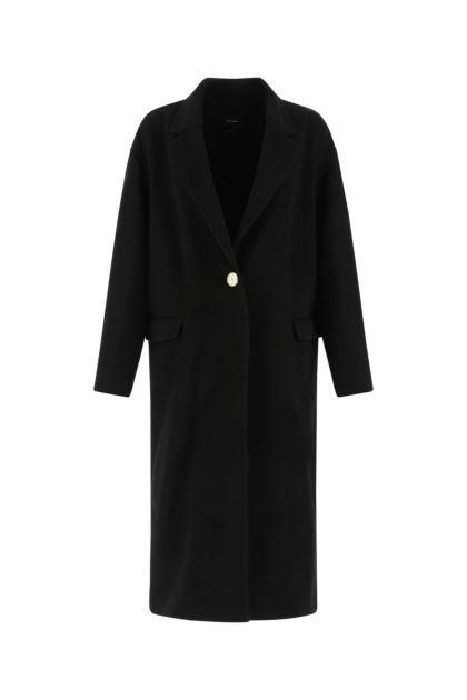 Black wool blend Efezia coat