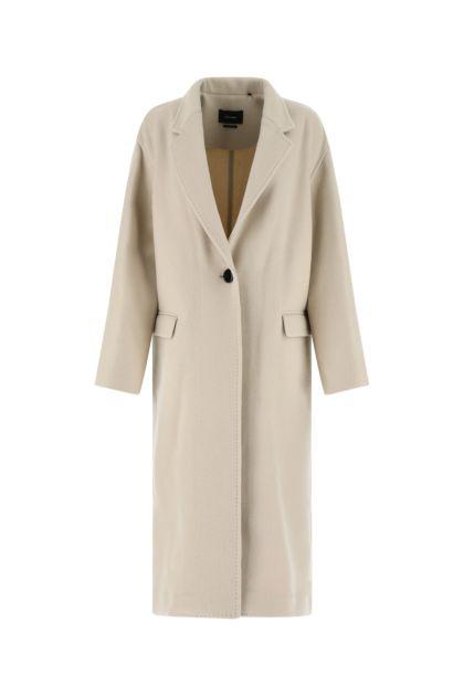Sand wool blend Efezia coat