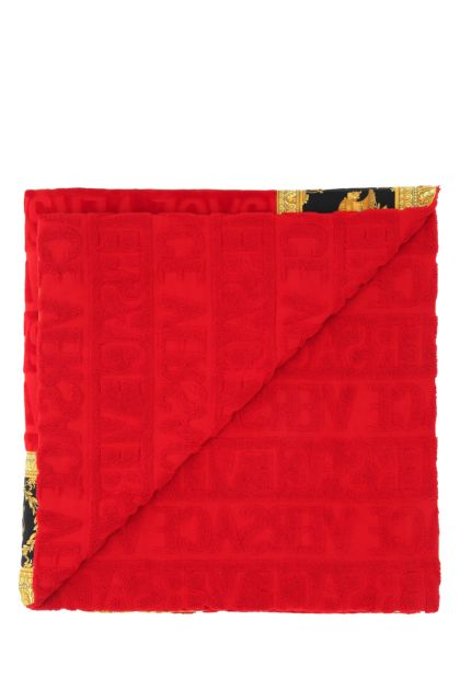 Red cotton beach towel