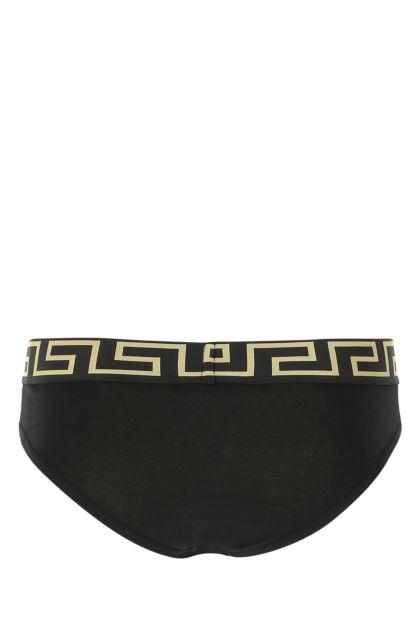 Black stretch cotton brief