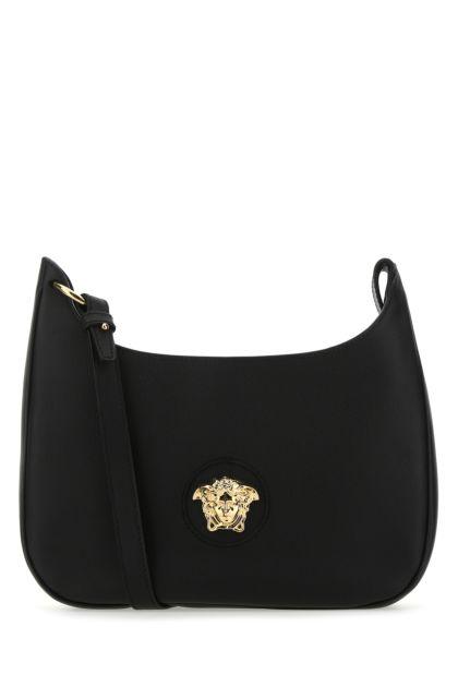 Black leather medium La Medusa shoulder bag