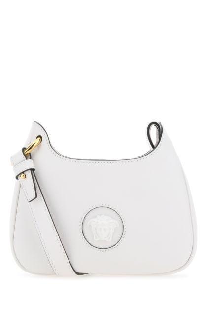 White leather small La Medusa shoulder bag