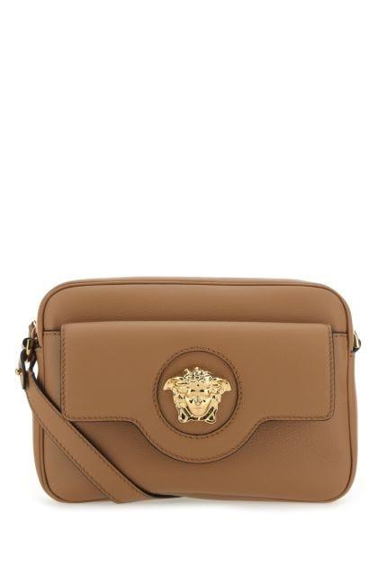 Biscuit leather La Medusa crossbody bag