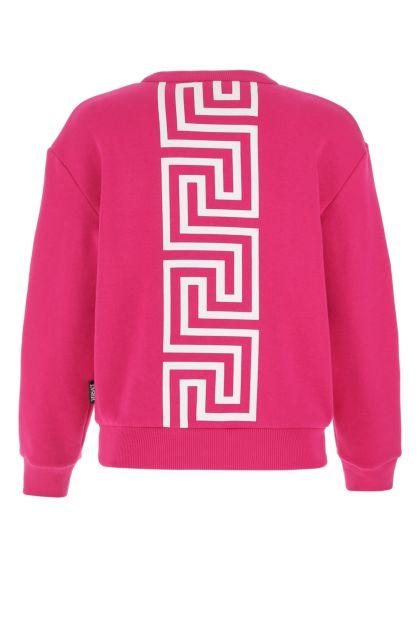 Fuchsia cotton blend sweatshirt