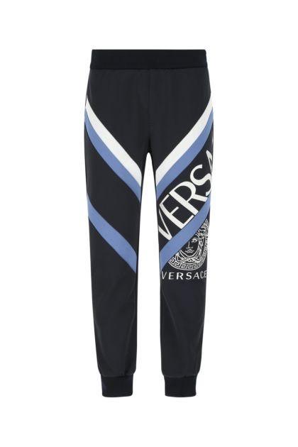 Dark blue polyester blend joggers