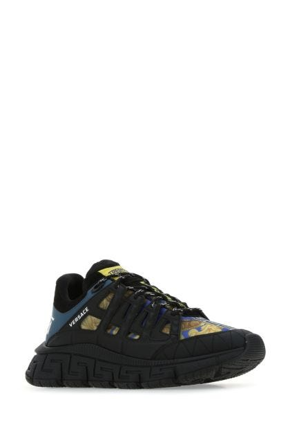 Multicolor fabric and leather Trigreca sneakers