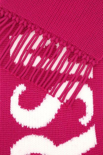 Fuchsia wool scarf