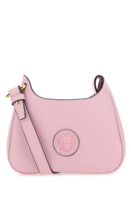 Pink leather small La Medusa shoulder bag
