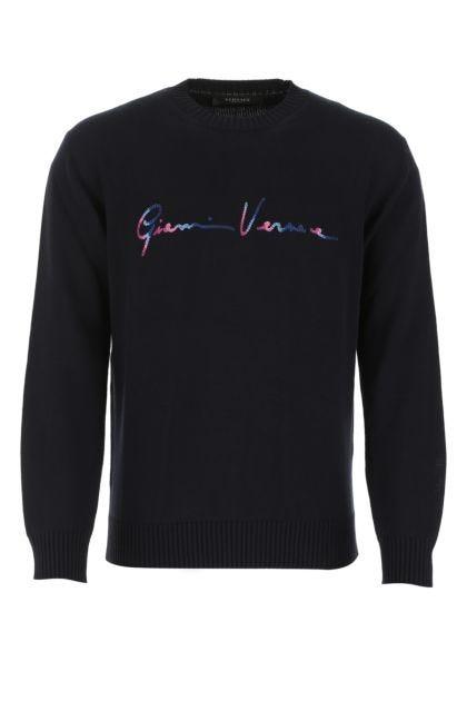 Midnight blue cotton sweater