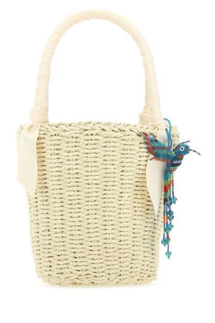 Sand straw handbag