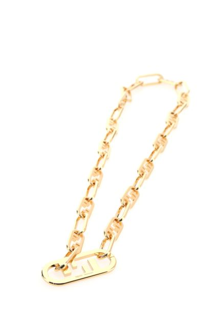 Gold metal O'Lock necklace
