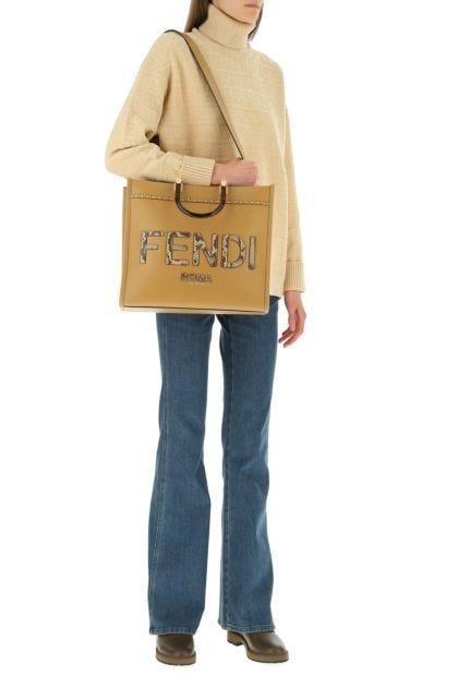 Cappuccino leather medium Sunshine handbag