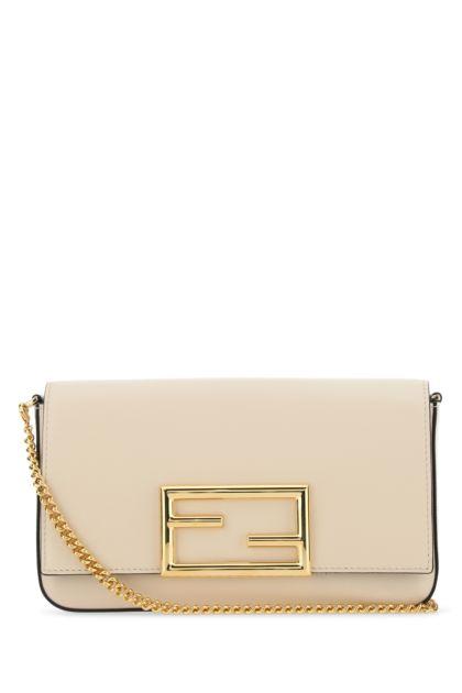 Ivory leather mini clutch