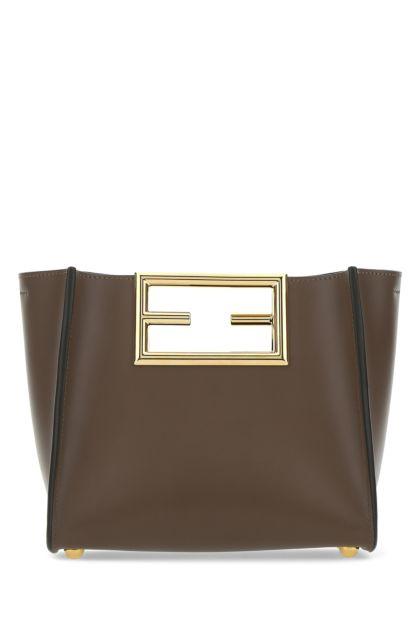 Chocolate leather small Fendi Way handbag