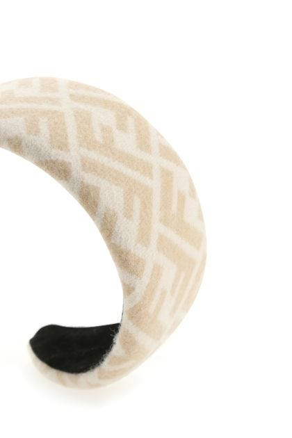 Embroidered wool blend hairband