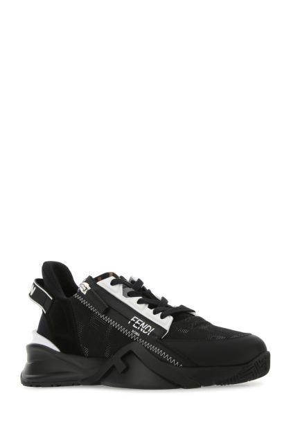 Black fabric Flow sneakers