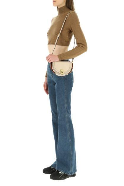 Powder pink leather Moonlight crossbody bag