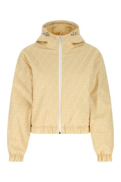 Printed polyester reversible padded jacket