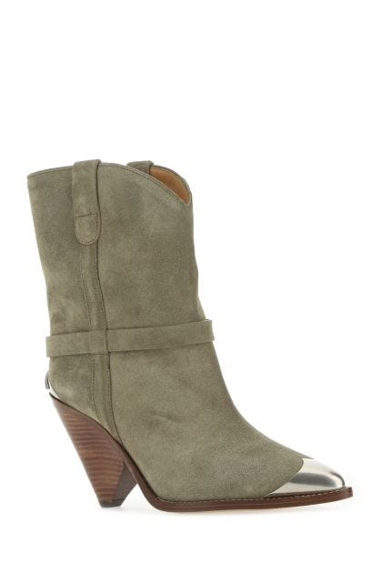Dove grey suede Limza boots